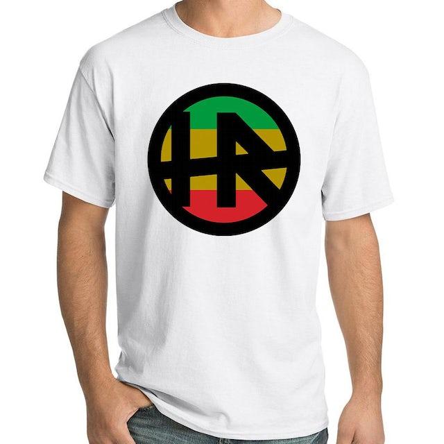 "H.R. ""Rasta Logo"" T-Shirt In White"