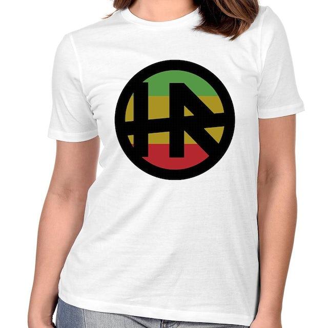 """H.R. """"Rasta Logo"""" Women's T-Shirt In White"""