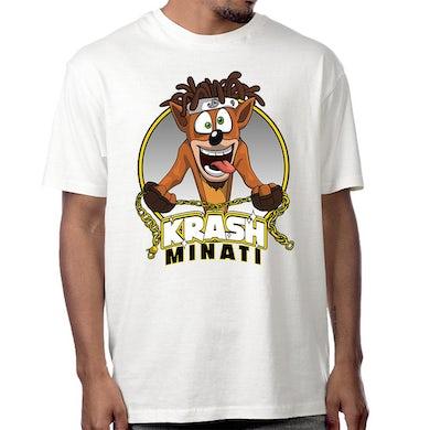 "Doobie Krash Minati ""Bandicoot"" T-Shirt in White"