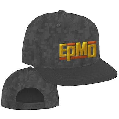 "EPMD ""Classic Logo"" Snapback Hat in Pixel Camo"