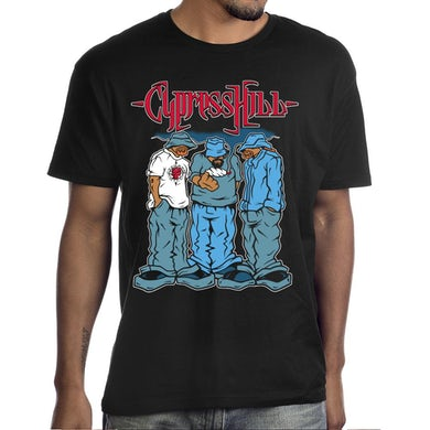 """Cypress Hill """"Blunted"""" T-Shirt in Black"""