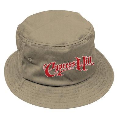 """Cypress Hill """"Script Logo"""" Bucket Hat in Tan"""