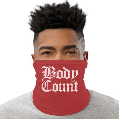 "Old English Logo"" neck gaiter in Red"