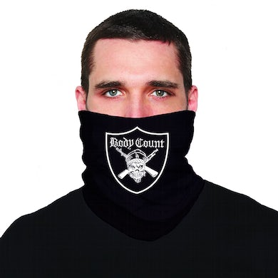 "Pirate"" neck gaiter in Black"