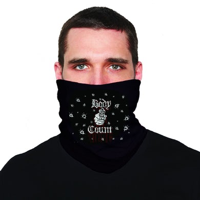"Talk Shit"" neck gaiter in Black"