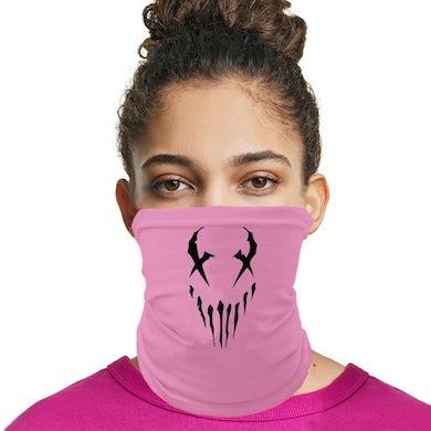 """X Face"""" neck gaiter in Pink"""