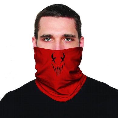 "X Face"" neck gaiter in Red"