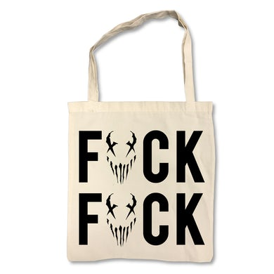 "FUCK"" on Tan Tote Bag"
