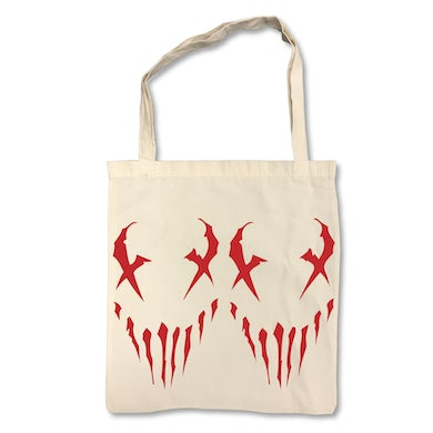 "X Face"" on Tan Tote Bag"
