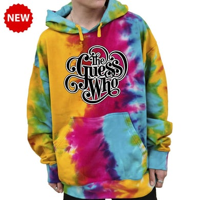 """The Guess Who """"Classic Logo"""" Tie-Dyed Pullover Hoodie"""