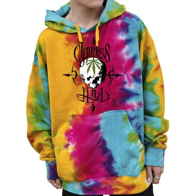 """Cypress Hill Custom Tie-Dyed """"Pothead"""" Pullover Hoodie"""
