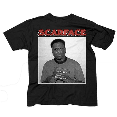 """Scarface """"Mugshot"""" T-Shirt"""