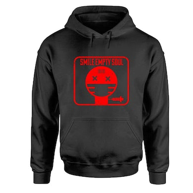 """Smile Empty Soul """"2020 Album Cover"""" Red Print Pullover Hoodie"""