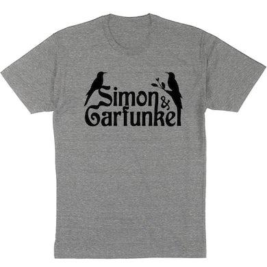 """Simon & Garfunkel """"Birds"""" T-Shirt in Heather Grey"""