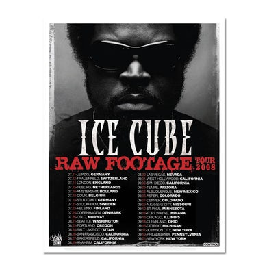 """Ice Cube """"Raw Footage Tour"""" Litho"""