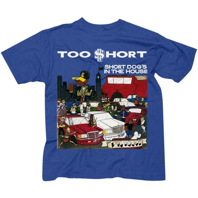 """Too $hort """"$hort Dog's In The House"""" royal blue t-shirt"""