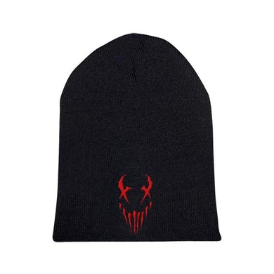 "Mushroomhead ""X-Face"" Red Print Beanie"