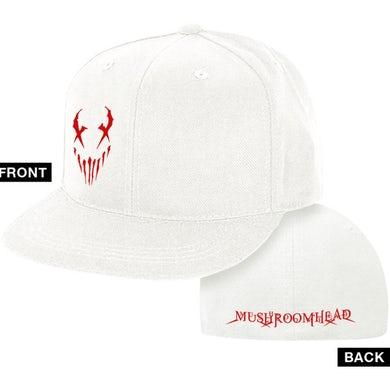 "Mushroomhead ""X-Face"" Flex Fit Hat White and Red"