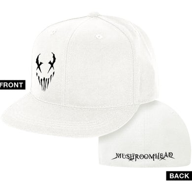 "Mushroomhead ""X-Face"" Flex Fit Hat White and Black"