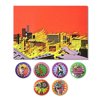 DOWN N OUTZ Down N' Outz Button Pack With Postcard