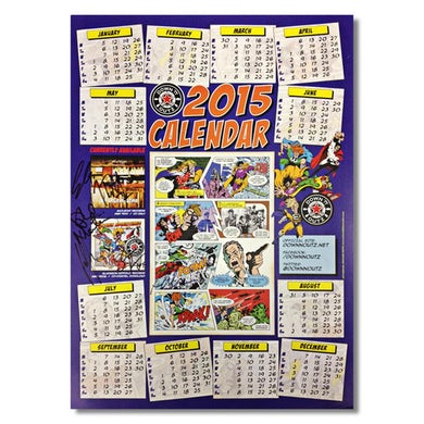 DOWN N OUTZ Down N' Outz AUTOGRAPHED 2015 Poster Calendar in Purple