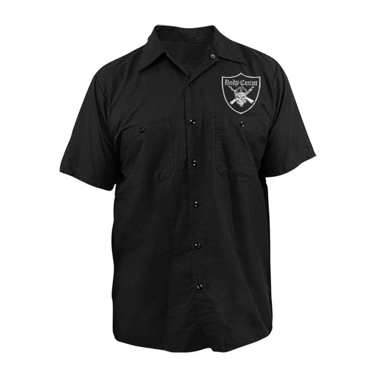 Body Count Men/'s Pirate Work Shirt XX-Large Black