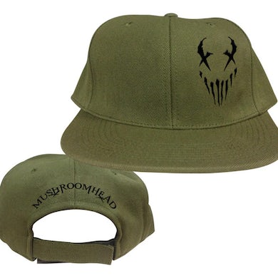 "Mushroomhead ""X-Face"" Snap Back Hat Green/Black"