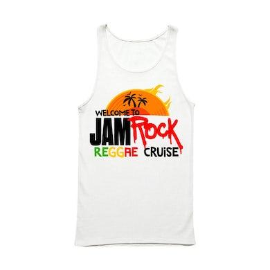 "Welcome To Jamrock 2015 ""Reggae Cruise"" White Event Tank Top"