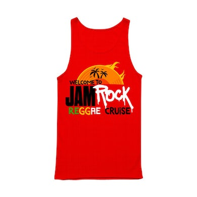 """Welcome To Jamrock 2015 """"Reggae Cruise"""" Red Event Tank Top"""
