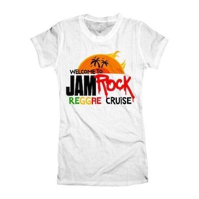 """Welcome To Jamrock 2015 """"Reggae Cruise"""" White Event Women's T-shirt"""