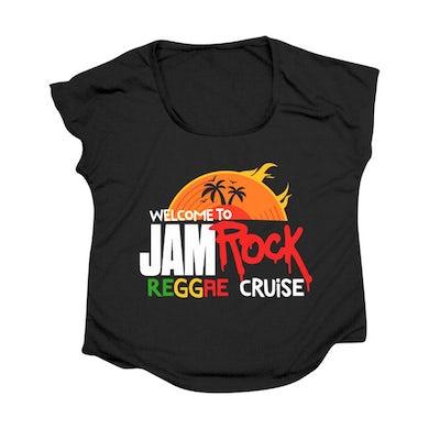 "Welcome To Jamrock 2015 ""Reggae Cruise"" Black Event Women's Doleman T-shirt"