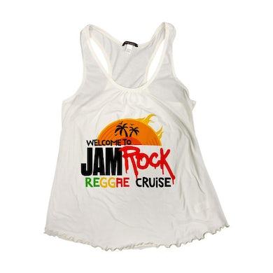 "Welcome To Jamrock 2015 ""Reggae Cruise"" White Event Women's Tank Top"