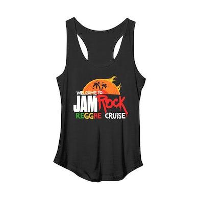 "Welcome To Jamrock 2015 ""Reggae Cruise"" Black Event Women's Racer Back Tank Top"