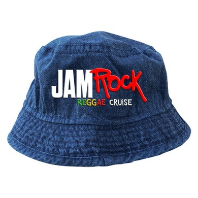 "Welcome To Jamrock 2015 ""Reggae Cruise"" Denim Blue Bucket Hat"