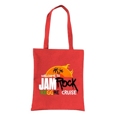 """Welcome To Jamrock 2015 """"Reggae Cruise"""" Red Event Tote Bag"""