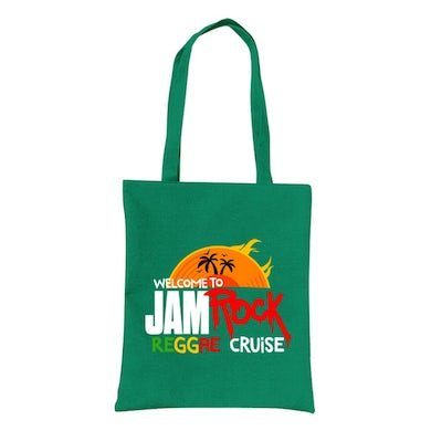 """Welcome To Jamrock 2015 """"Reggae Cruise"""" Green Event Tote Bag"""