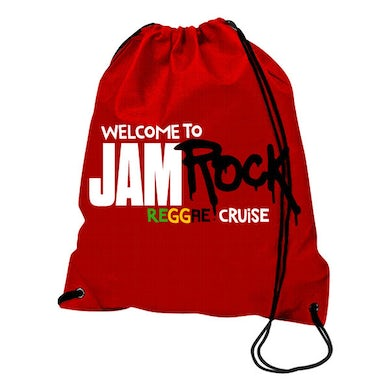 """Welcome To Jamrock 2015 """"Reggae Cruise"""" Red Event Drawstring Backpack"""
