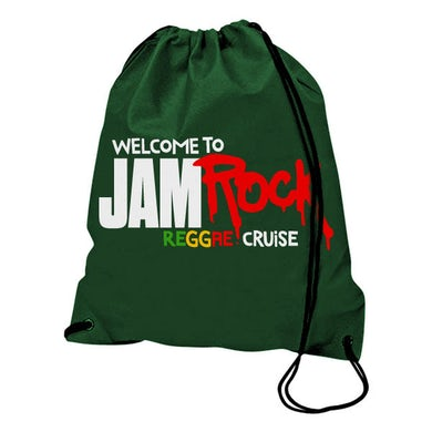 "Welcome To Jamrock 2015 ""Reggae Cruise"" Green Event Drawstring Backpack"