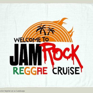 "Welcome To Jamrock 2015 ""Reggae Cruise"" White Event Beach Towel"