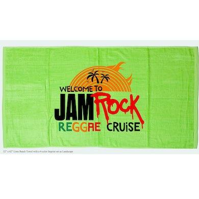 "Welcome To Jamrock 2015 ""Reggae Cruise"" Green Event Beach Towel"