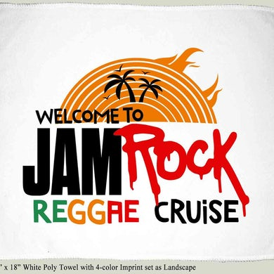 """Welcome To Jamrock 2015 """"Reggae Cruise"""" White Event Rally Towel"""