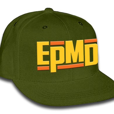 """EPMD """"Classic Logo"""" Army Green Snap Back Hat"""