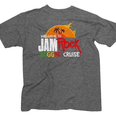 "Welcome To Jamrock 2016 ""Reggae Cruise"" Heather Grey Event T-Shirt"