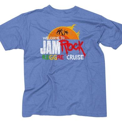 "Welcome To Jamrock 2016 ""Reggae Cruise"" Lite Blue Event T-Shirt"