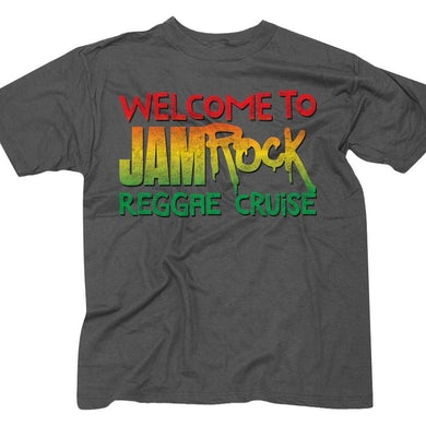 """Welcome To Jamrock 2016 """"Stacked Logo"""" Heather Grey T-Shirt"""