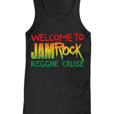 "Welcome To Jamrock 2016 ""Stacked Logo"" Black Tank Top"
