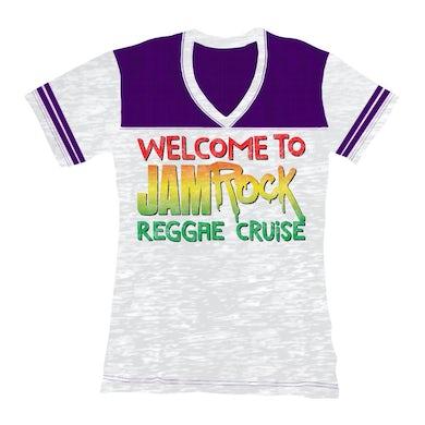 "Welcome To Jamrock 2016 ""Stacked Logo"" Women's Football T-Shirt"