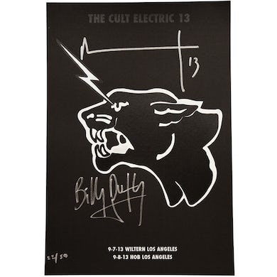 The Cult ELECTRIC 13 POSTER AUTOGRAPHED // Los Angeles Show