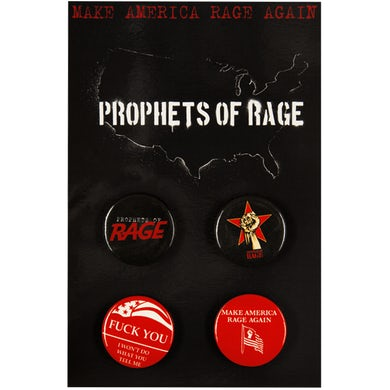 Prophets Of Rage 4 Pin Set-P.O.R/F**K YOU