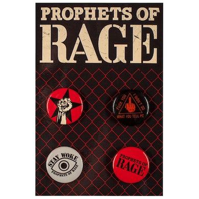 Prophets Of Rage 4 Button Set-2018 Stay Woke